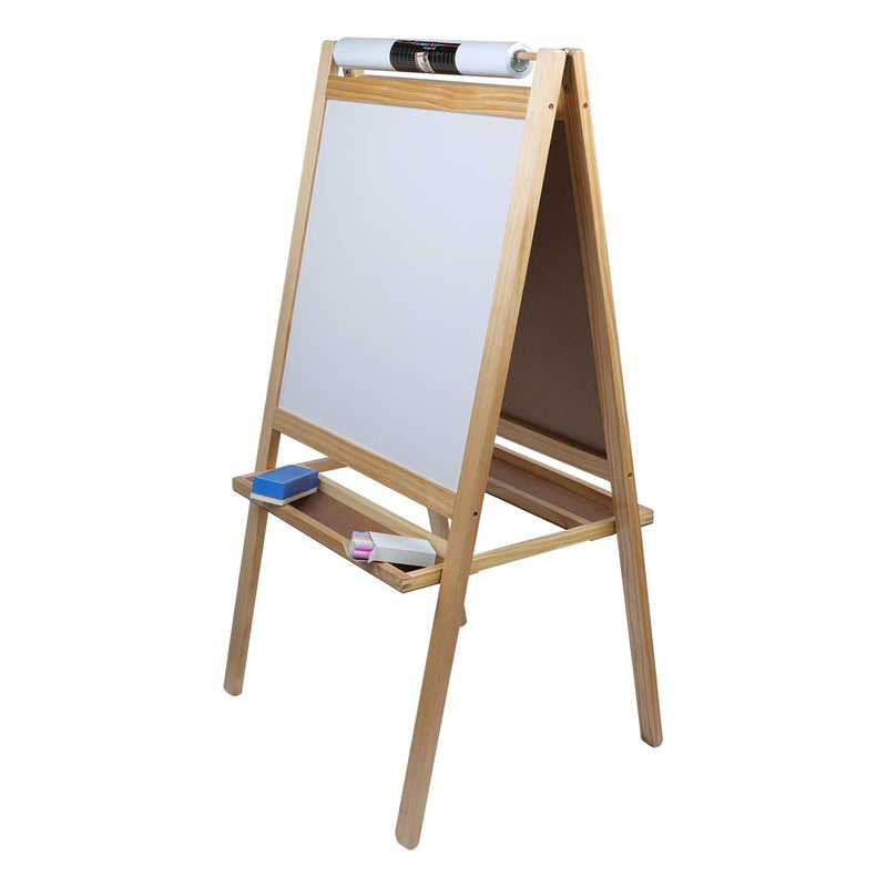 Rosy Brown Tim & Tess 3 in 1 Activity Easel Kids Easels