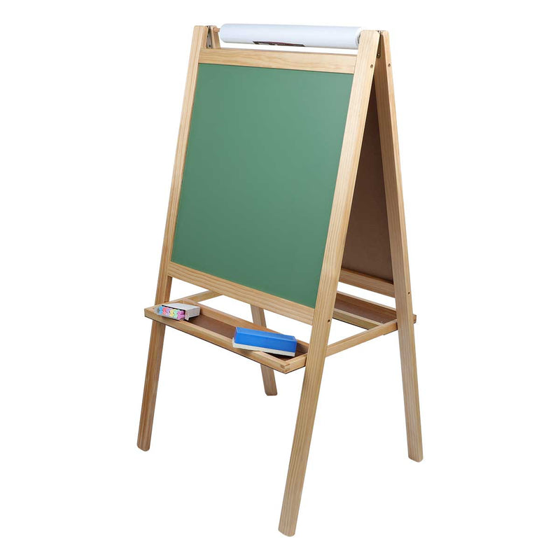 Dim Gray Tim & Tess 3 in 1 Activity Easel Kids Easels
