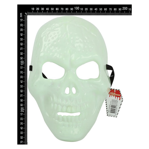 Glow in the Dark Skull Mask 27 x 17.5cm