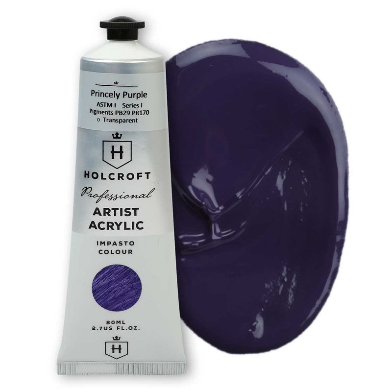 Holcroft Professional Acrylic Paint 80ml Princely Purple S1