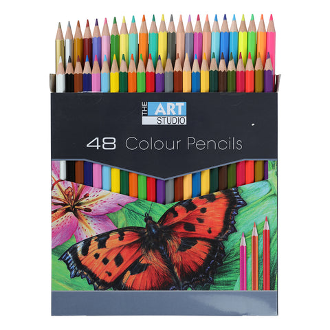 The Art Studio Colour Pencils 48 Colours