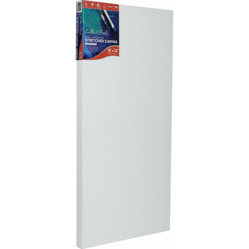 Light Gray Eraldo Di Paolo Stretched Canvas Gallery Wrapped 16 x 32 Inches - 1.5 Inch (38mm) Thick Canvas - Only Available In A Carton Of 2. Prices Are Per Canvas Canvas