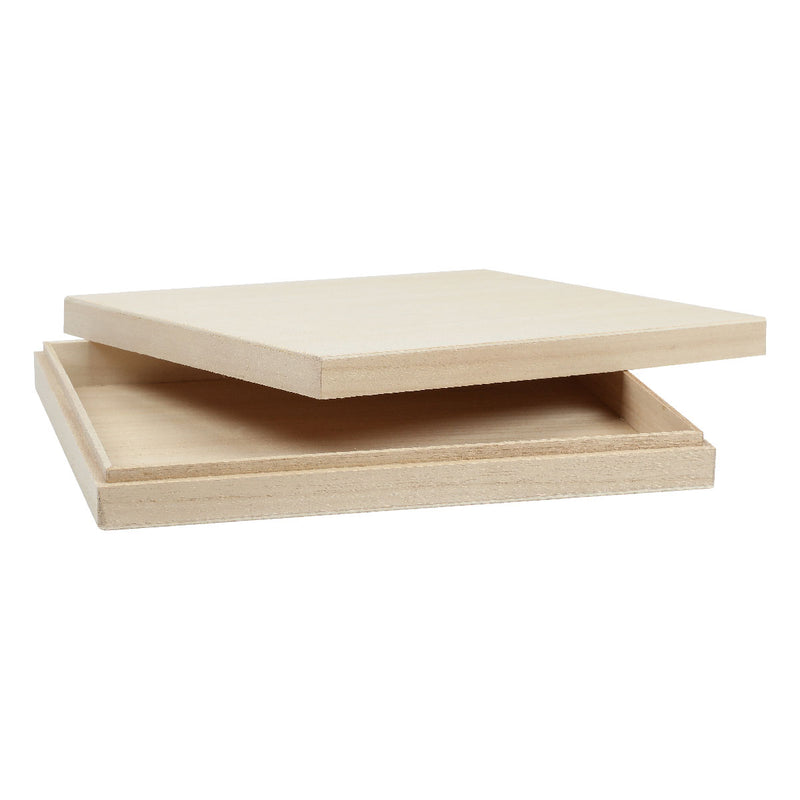 Tan Urban Crafter Paulowina Flat Box 24 x 19 x 3.5cm Wood Crafts