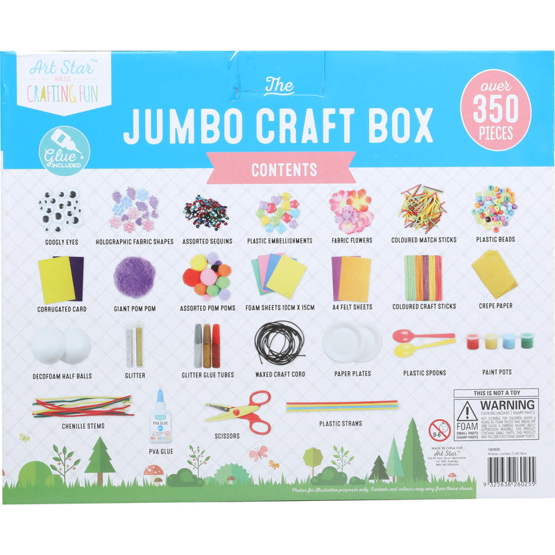 Art Star Jumbo Craft Box 350+ Pieces