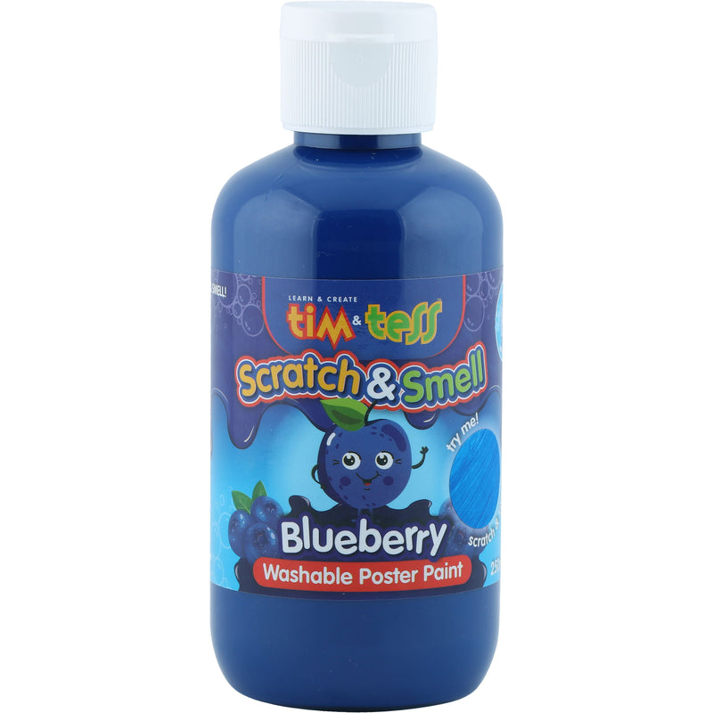 Tim & Tess Scratch & Smell  Childrens Washable Poster Paint 250ml Blueberry