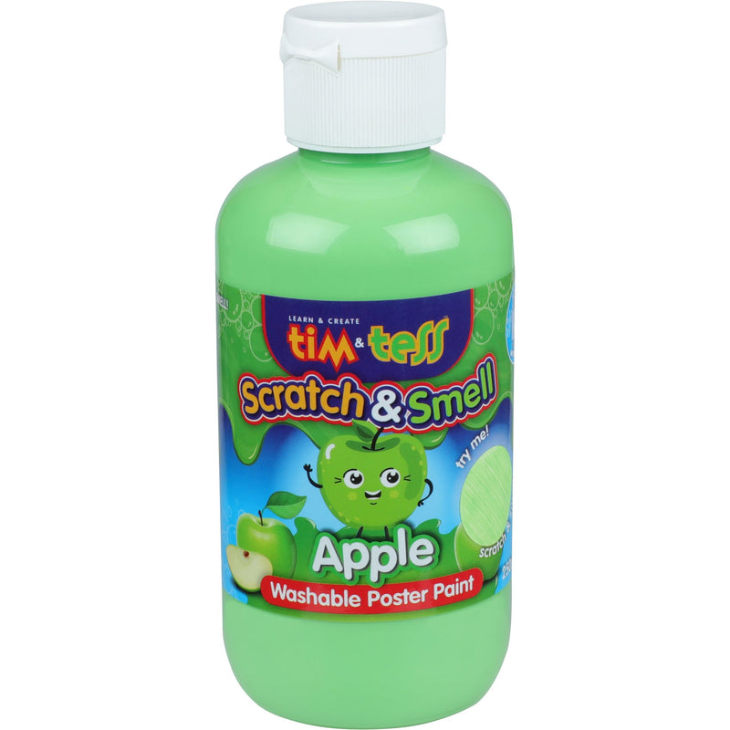 Tim & Tess Scratch & Smell  Childrens Washable Poster Paint 250ml Green Apple