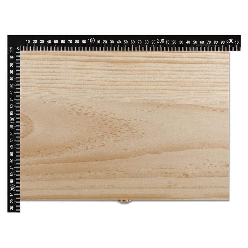 Urban Crafter Rectangular Pine Gift Box with Latch 30 x 22 x 12cm