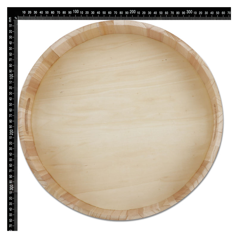 Gray Urban Crafter Round Wooden Drinks Tray 35cm Diameter Wood Crafts