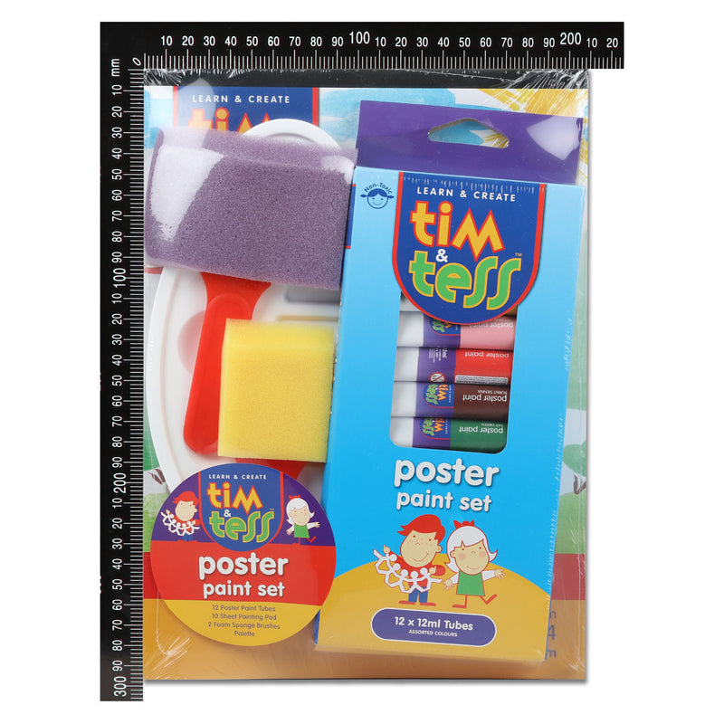 Tim & Tess Poster Paint Tube Kit