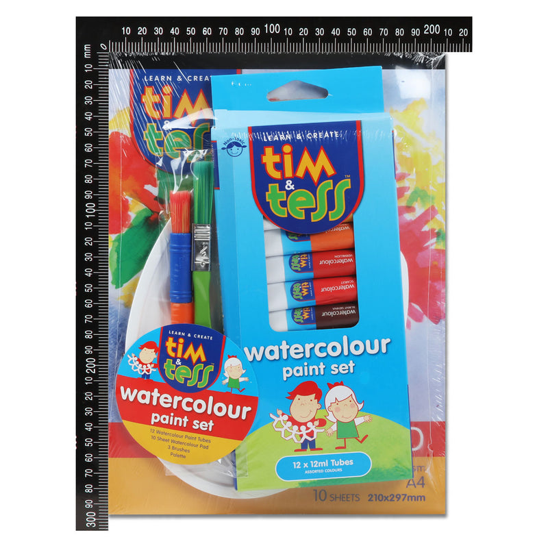 Tim & Tess Watercolour Paint Tube Kit