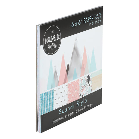 The Paper Mill 6 x 6 Inch Paper Pad 30 Sheets Scandi Style