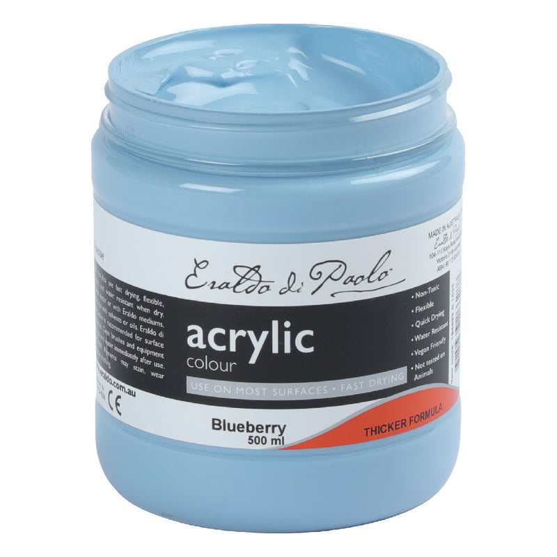 Eraldo Di Paolo Acrylic Paint 500ml Blueberry