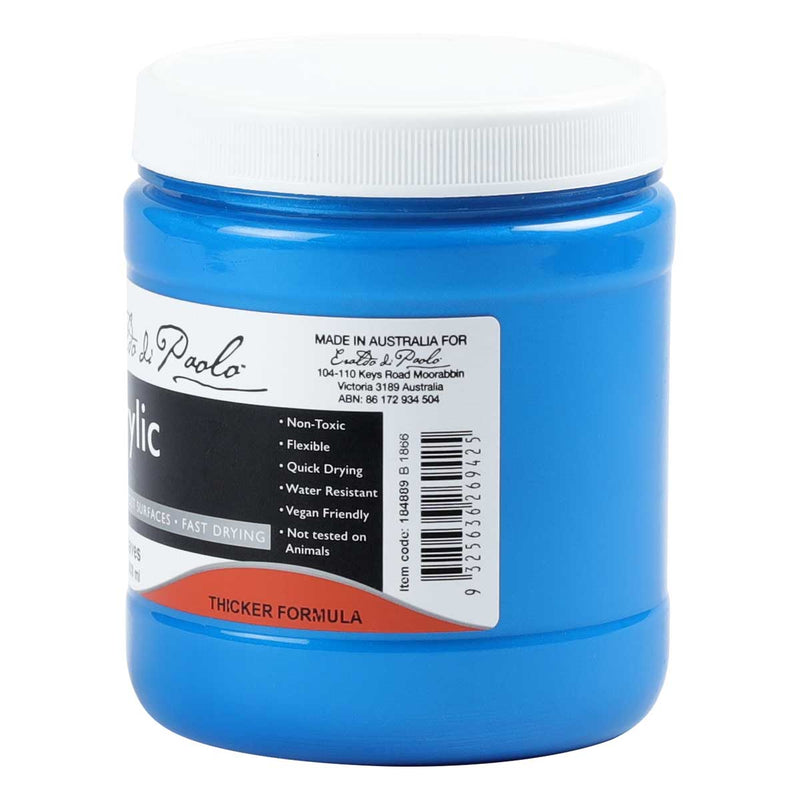 Dodger Blue Eraldo Di Paolo Acrylic Paint Metallic Waves 500ml Acrylic
