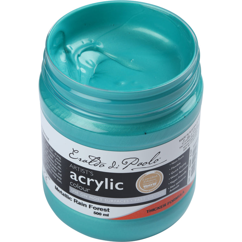 Eraldo Acrylic  Paint 500ml - Metallic Rain Forest