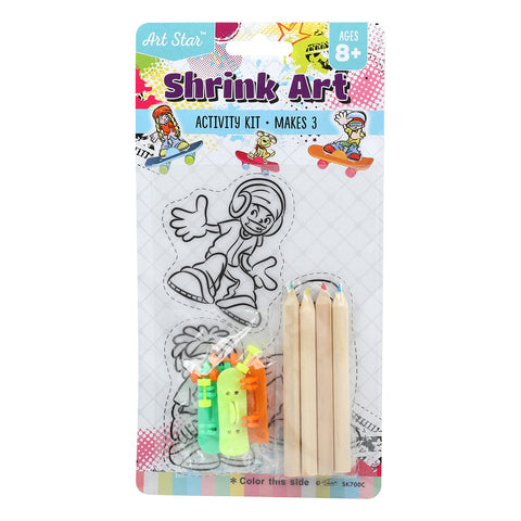 Art Star Shrink Art Skateboards Small Activity Kit