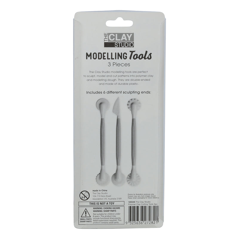 Gray The Clay Studio Polymer Clay Cutting Tools 3 Pieces Modelling