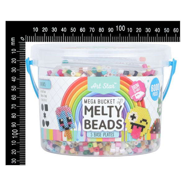 Lavender Art Star Mega Bucket of Melty Beads 6000+ Beads Kids Kits