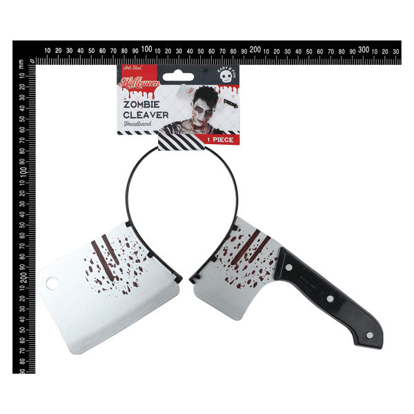 Art Star Halloween Headband with Meat Cleaver 1 Piece