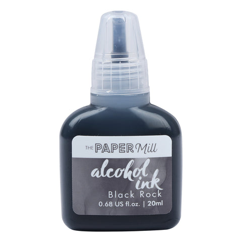 The Paper Mill Alcohol Ink 20ml Black Rock