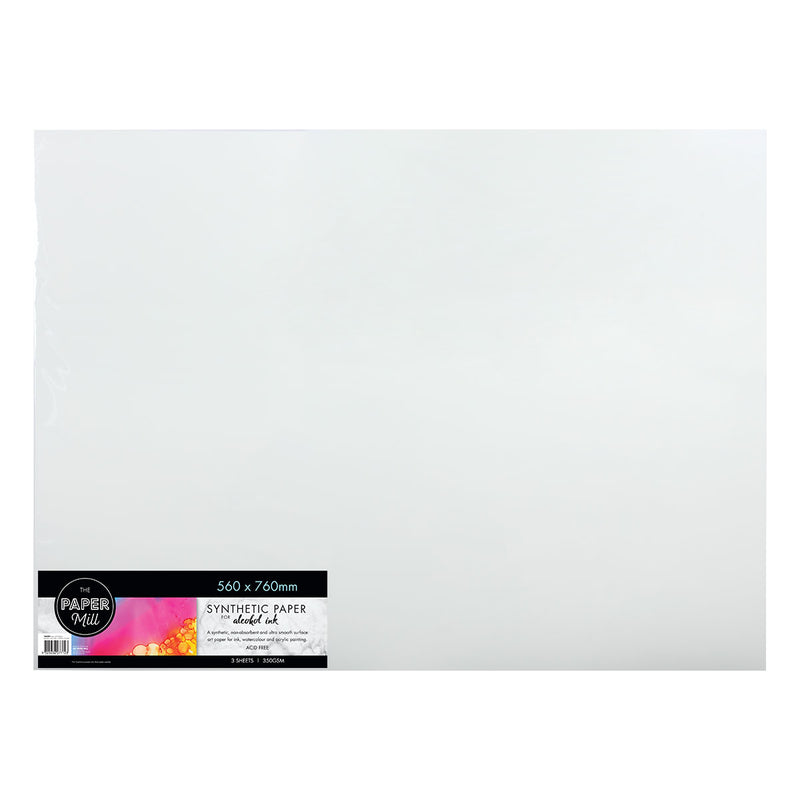 The Paper Mill Synthetic Paper 350gsm 560 x 760mm 3 Sheets