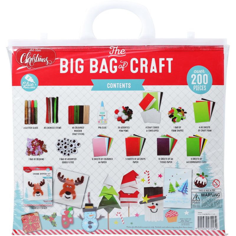 Red Artstar Christmas Big Bag Of Craft Christmas