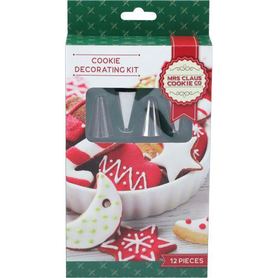 Maroon Make A Merry Christmas Cookie Piping Set 12 Pieces Christmas