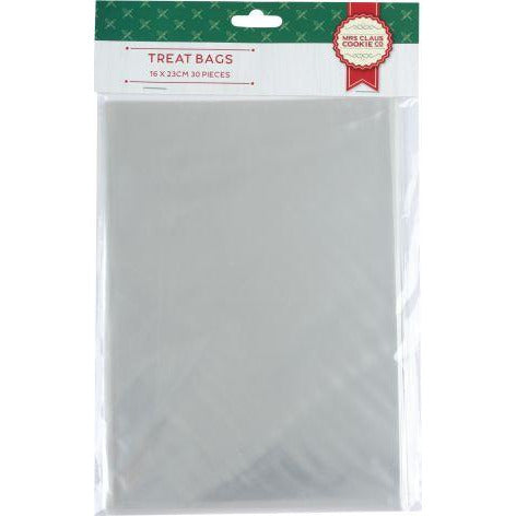 Gray Make A Merry Christmas Treat Bags 16 x 23cm 30 Pieces Christmas