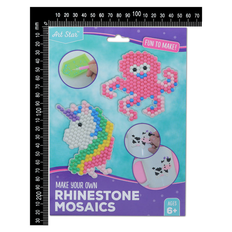 Sky Blue Art Star Make Your Own Unicorn & Octopus Rhinestone Mosaics Kit Kids Kits