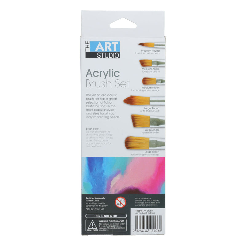 Art Studio Synthetic Brush Set 6pieces