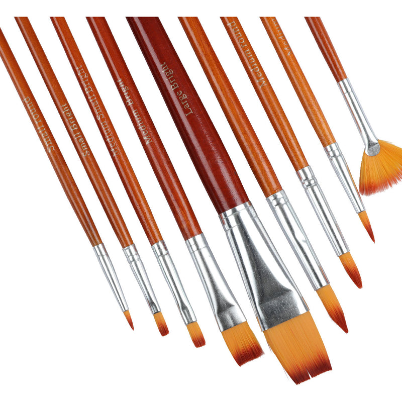 Sienna The Art Studio Mixed Media Synthetic Brush Set 9 Pieces Brushes