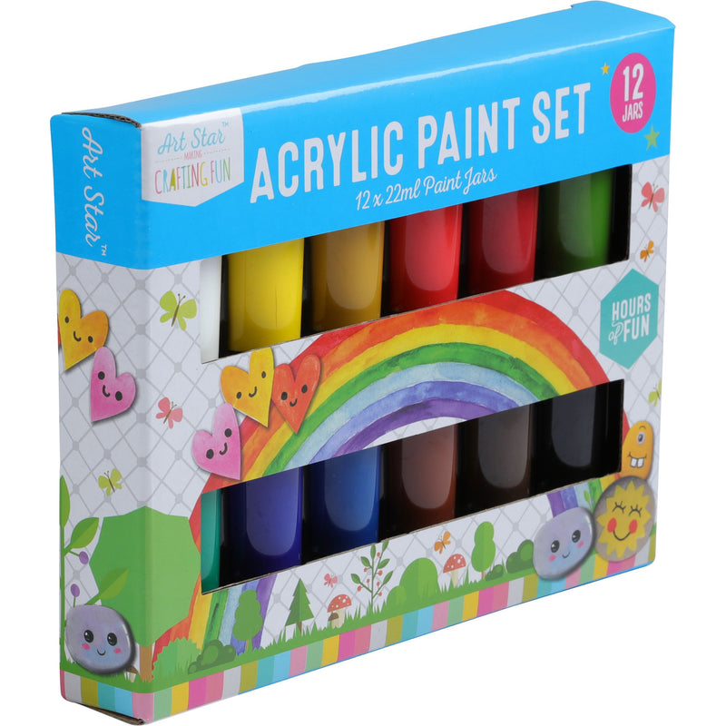 Art Star Acrylic Paint 22ml Jars 12pieces