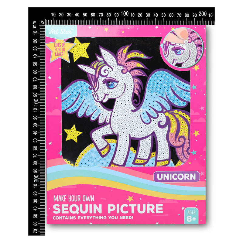 Art Star Make Your Own Sequin Picture Unicorn