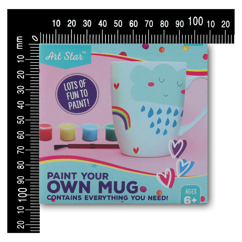 Dark Gray Art Star Paint Your Own Mug Kids Kits