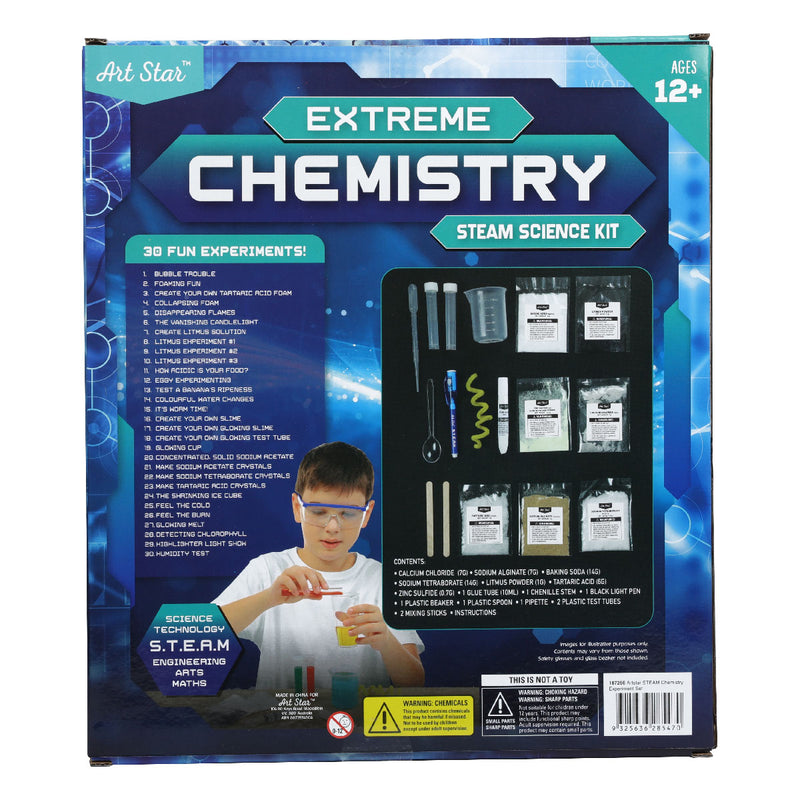Midnight Blue Art Star Extreme Chemistry STEAM Science Kit Steam