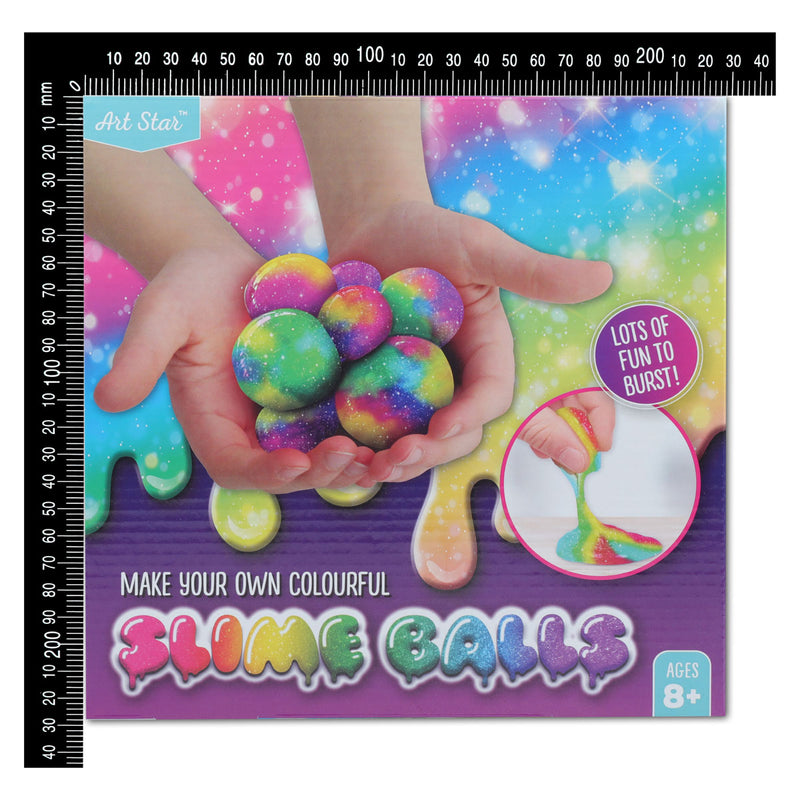 Maroon Art Star Make Your Own Colourful Slime Balls Kids Kits