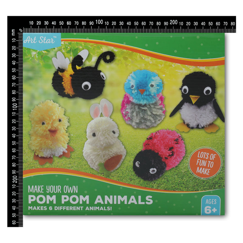Artstar Make Your Own Pom Pom Animals (Makes 6)