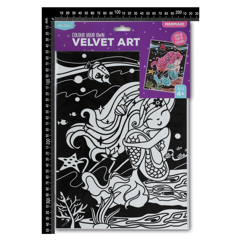 Dark Slate Blue Art Star Colour Your Own Mermaid Velvet Art Kids Kits