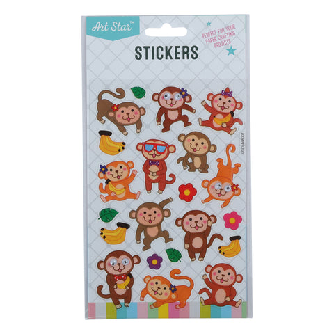 Art Star Wiggle Eye Stickers - Monkey Around