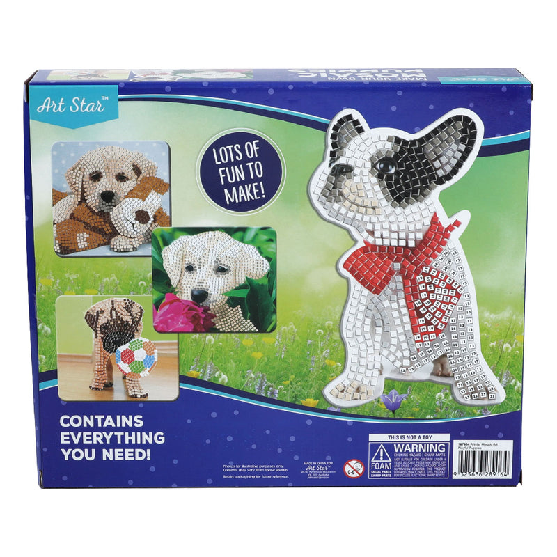 Olive Drab Art Star Make Your Own Mosaic Art Playful Puppies Kids Kits