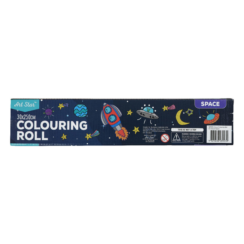 Art Star Colouring Roll 30 x 250cm Space