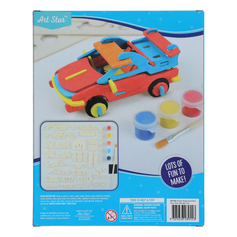Art Star Build and Paint Wooden Car