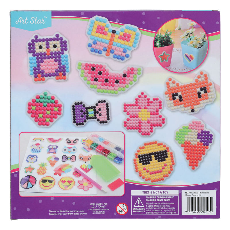 Pale Violet Red Art Star Rhinestone Mosaic Design Kit Kids Kits