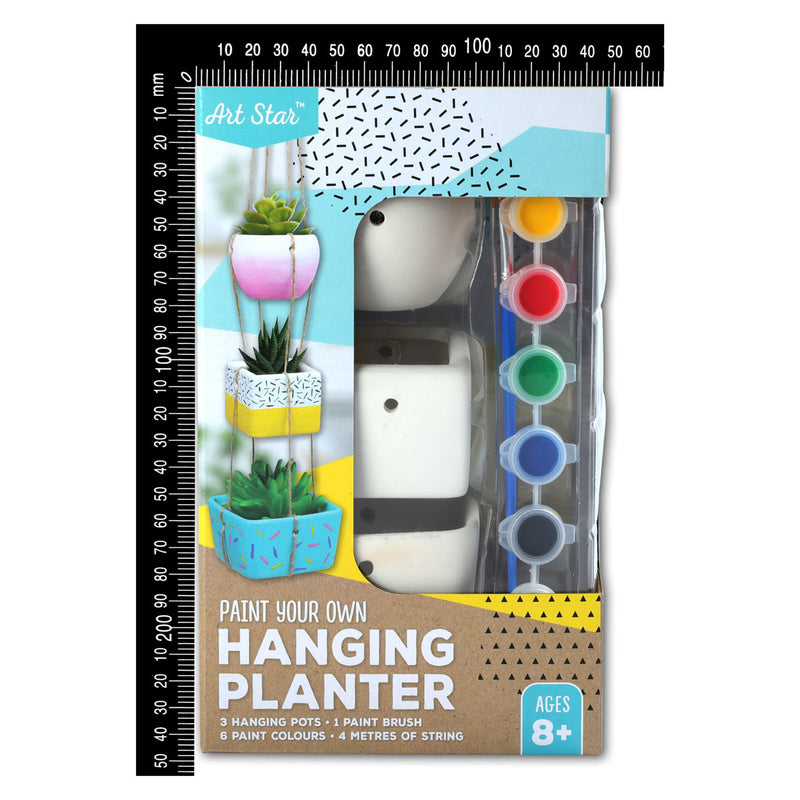 Art Star Paint Your Own Hanging Planter Makes 3