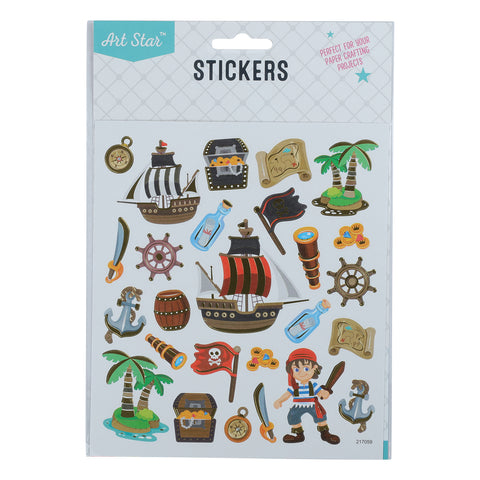 Art Star Foil Stickers - Pirate Treasure