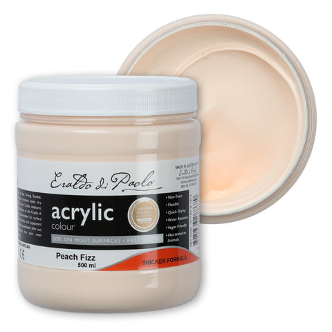Eraldo Acrylic Paint 500ml Peach Fizz