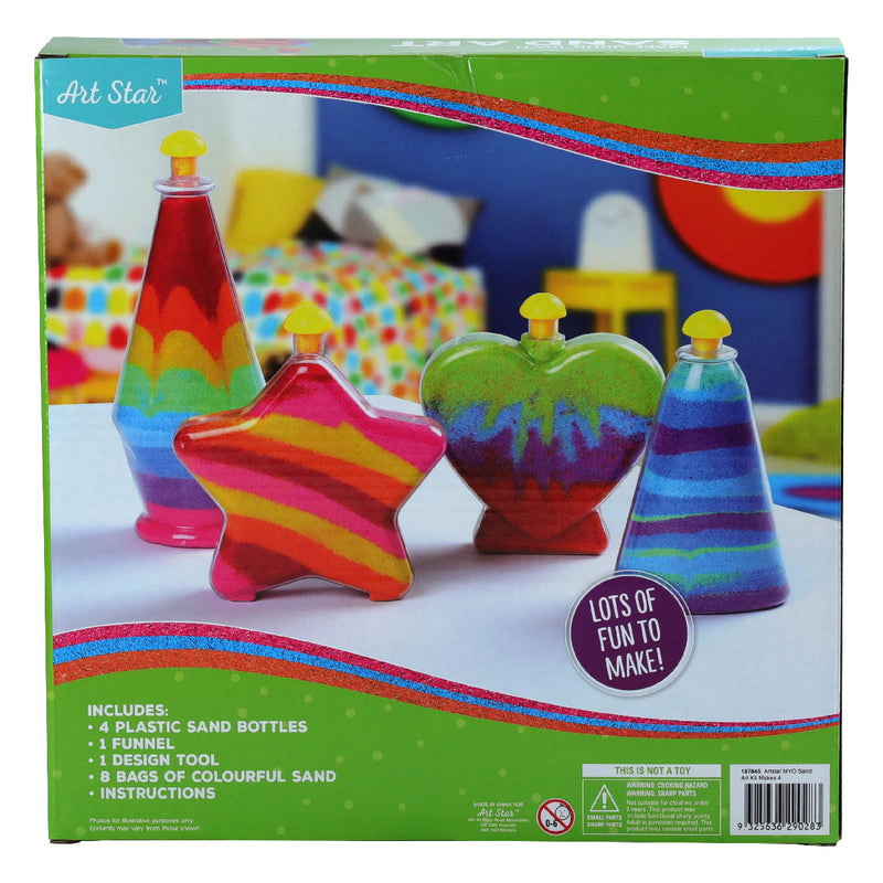 Brown Art Star Make Your Own Sand Art Kit Makes 4 Kids Kits