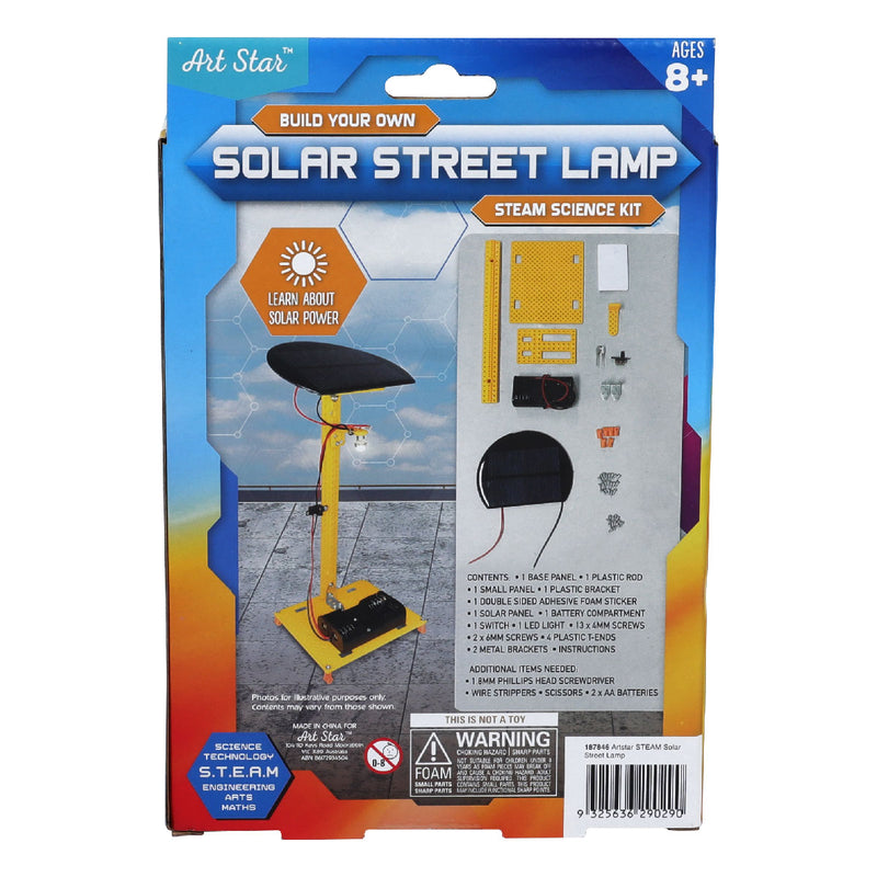 Art Star Build Your Own Solar Street Lamp STEAM Science Kit