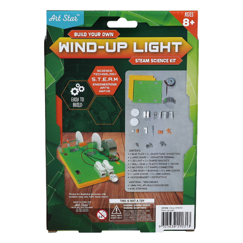 Dark Gray Art Star Build Your Own Wind-Up Light STEAM Science Kit Steam