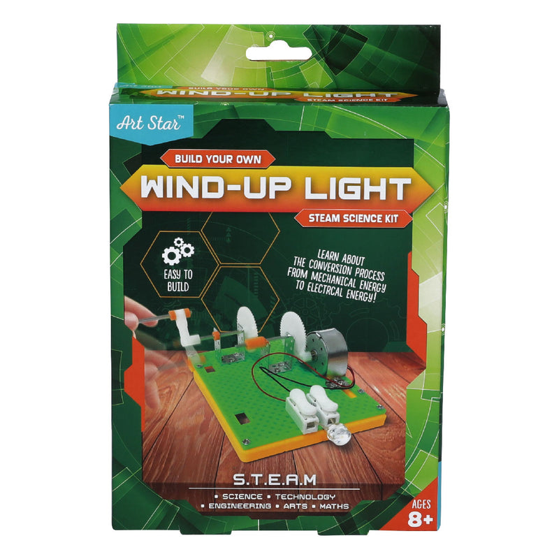Dark Slate Gray Art Star Build Your Own Wind-Up Light STEAM Science Kit Steam