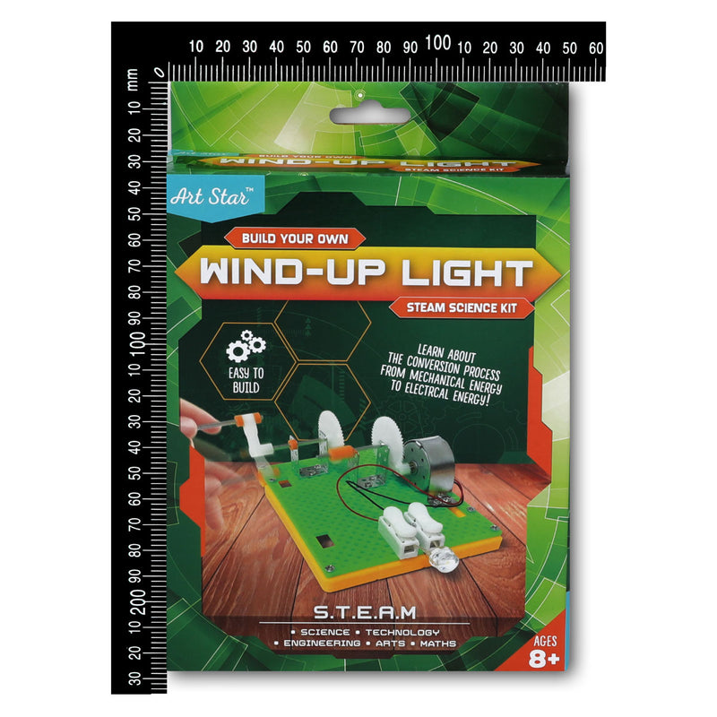 Sea Green Art Star Build Your Own Wind-Up Light STEAM Science Kit Steam
